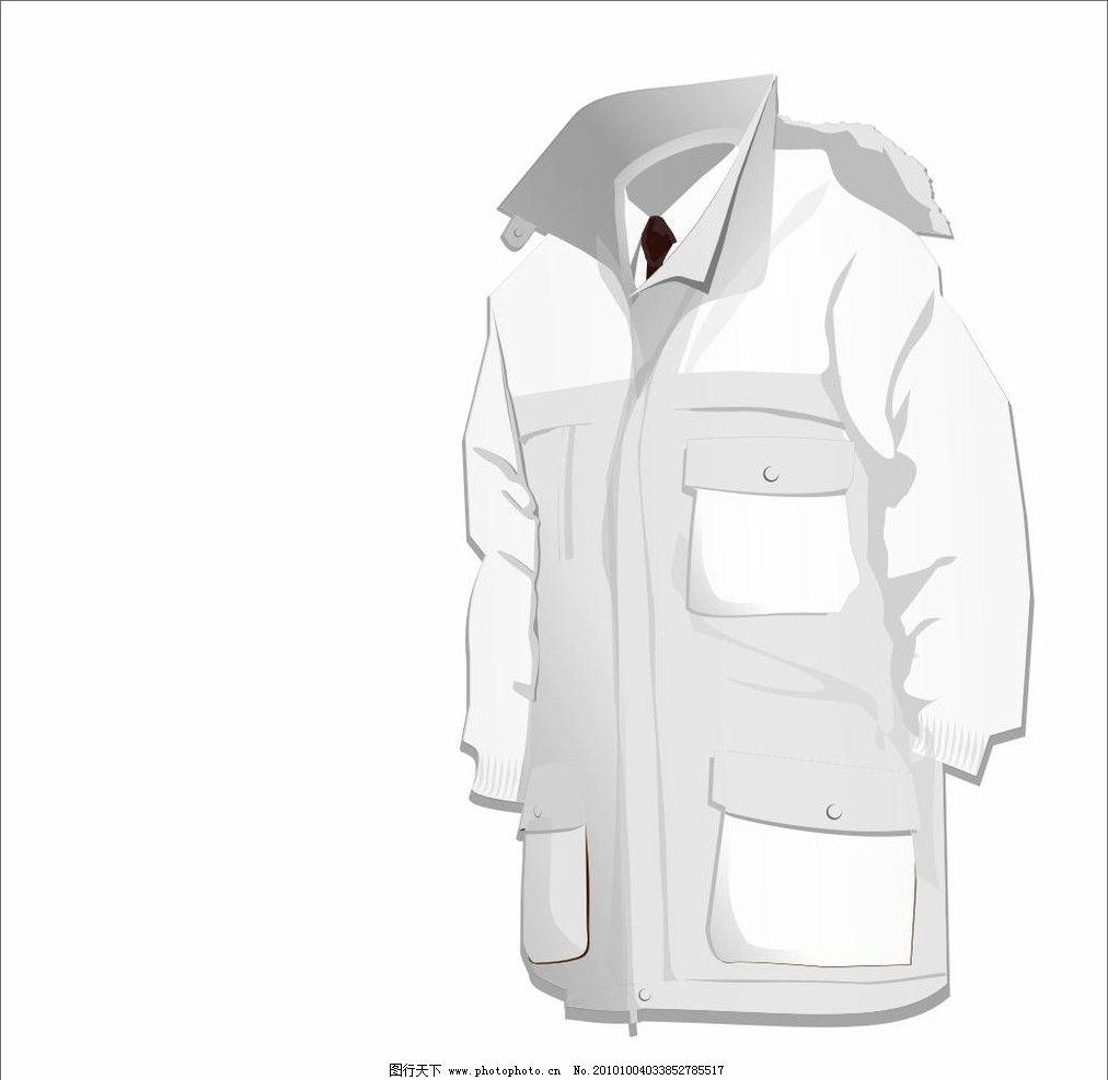 防寒服 模板 空白 领带 男式 大衣 保暖 灰色 矢量素材 其他矢量 矢量