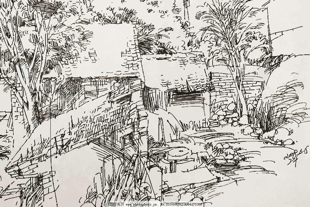 风景速写 速写 素描 装饰画 线描 山水 水墨 钢笔画 简笔画 风景 水乡