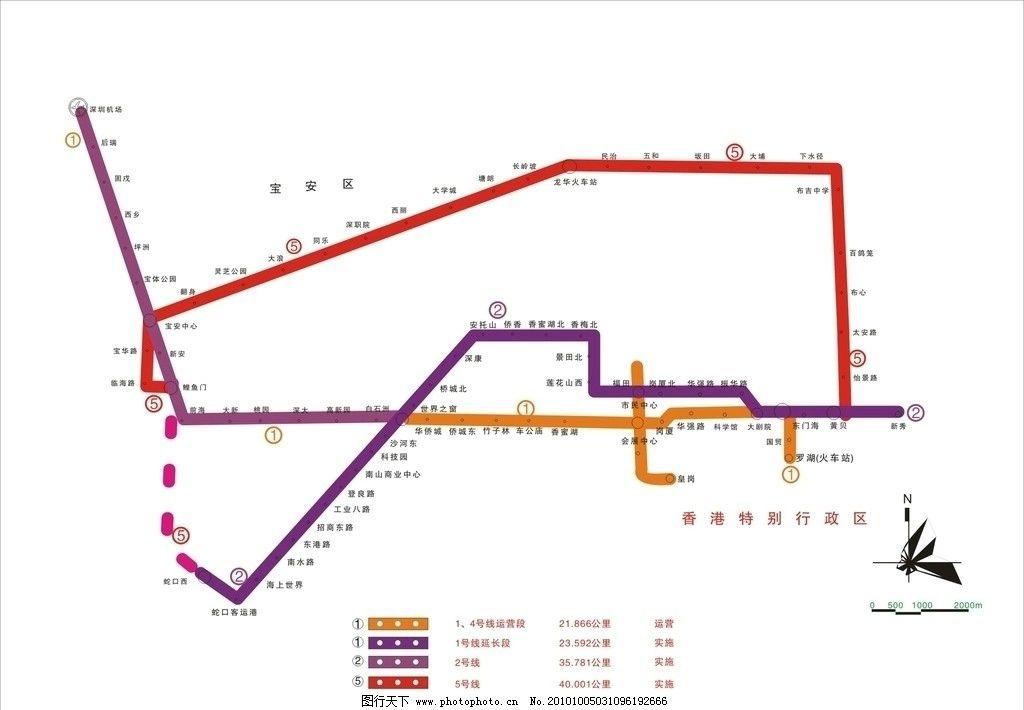 深圳地铁线路图图片