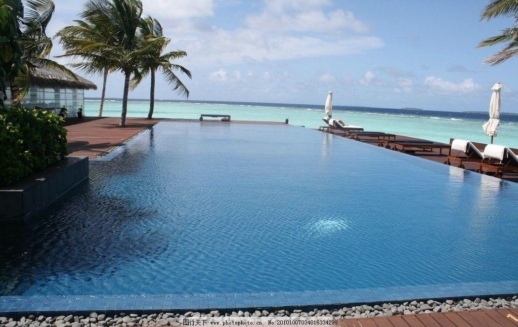 马尔代夫 伦格里岛 度假村 海边风光图片