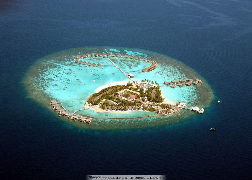 马尔代夫 森特拉岛 鸟瞰图片_国外旅游_旅游摄影_图行