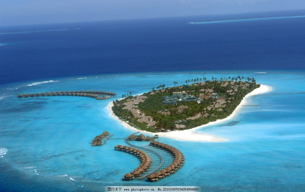 岛礁 环形水上屋 旅游岛风景区 著名旅游胜地 畅游世界(亚洲篇) 国外
