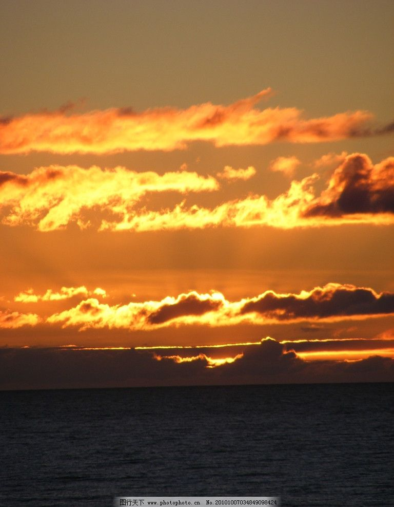 海洋落日美景图片_自然风景_自然景观_图行天下图库
