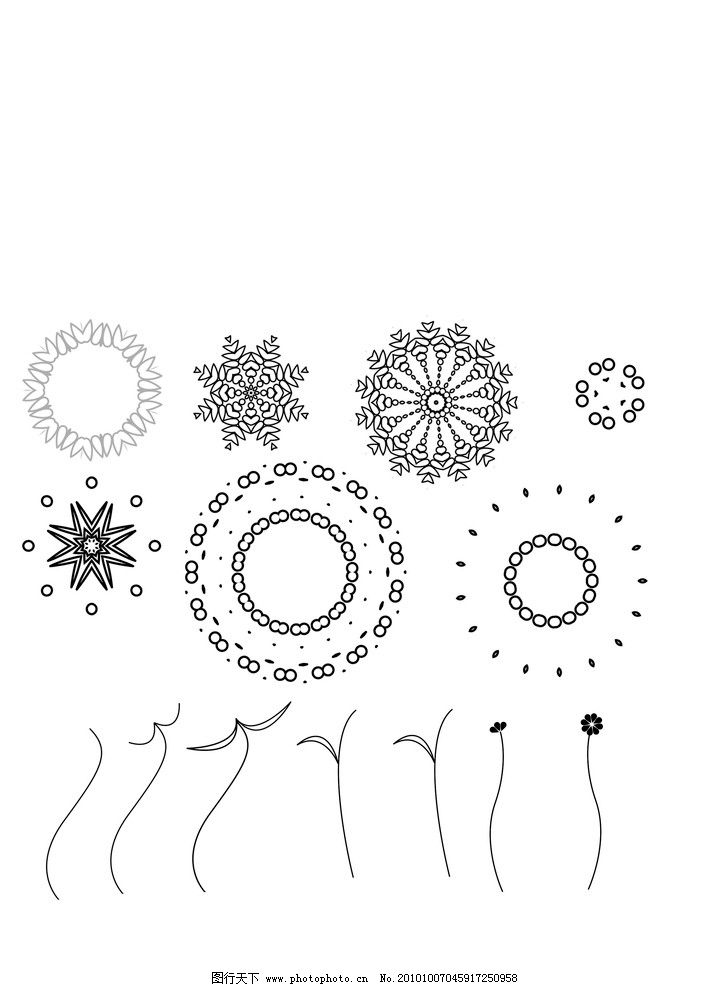 花朵笔刷 花 笔刷 花朵 植物笔刷 ps笔刷 源文件 abr