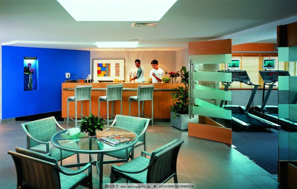 餐厅 健身房 休息室 吊顶设计 酒店设计 吧台 五星级酒店 香格里拉