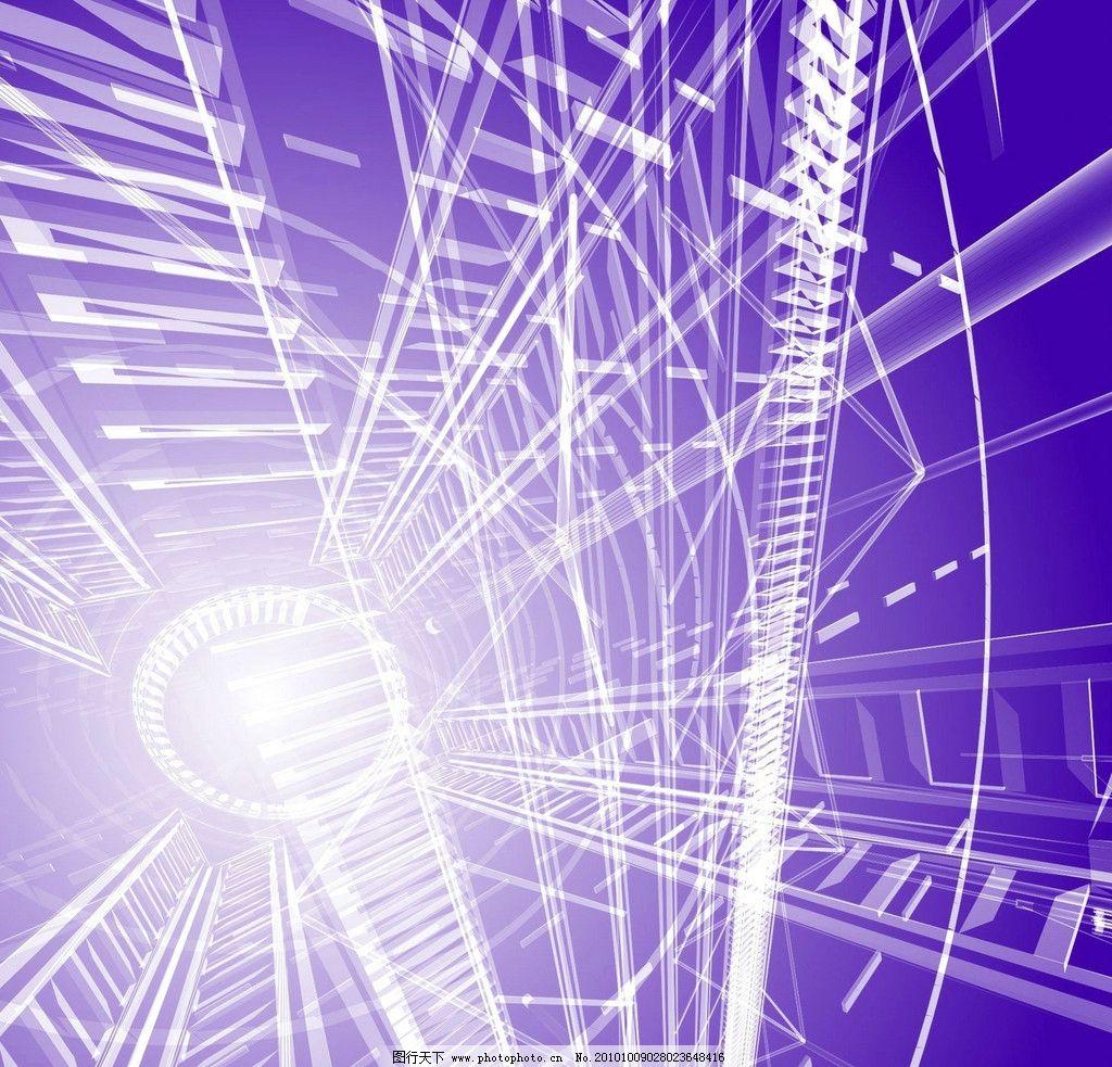 结构 建筑结构 施工图 效果图 体系结构 科技 科学 蓝色 建筑学 线条