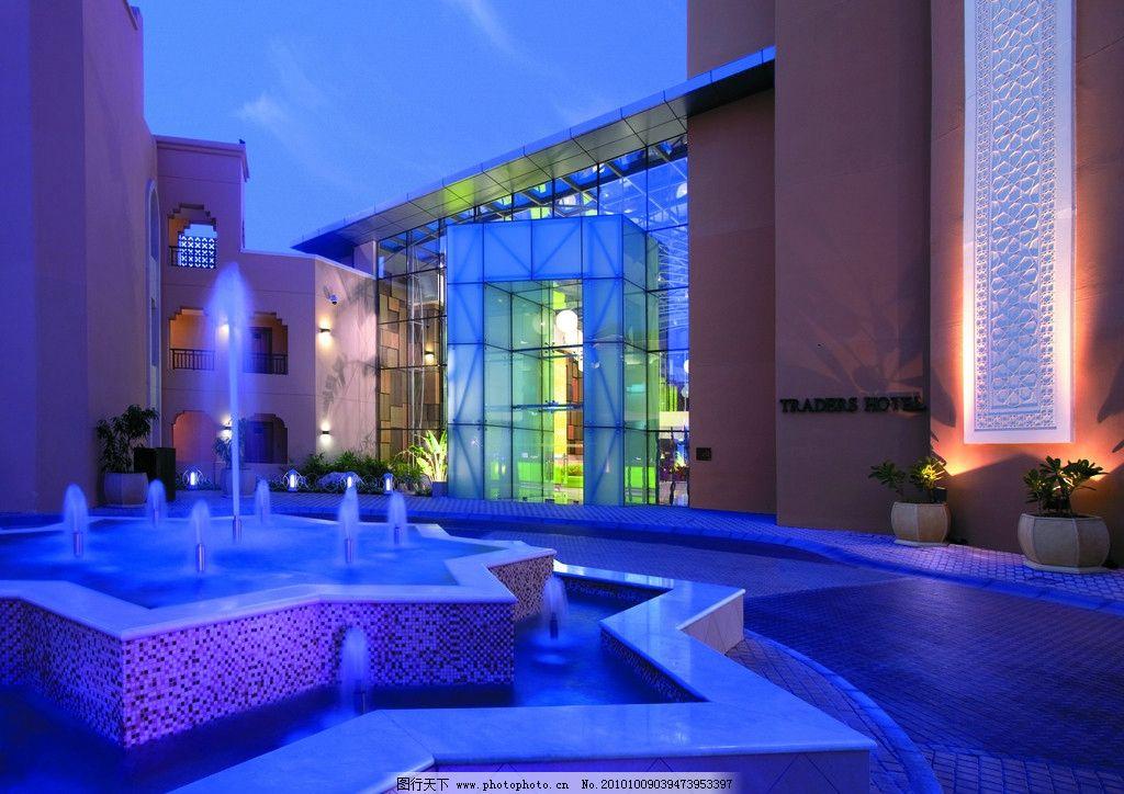 摄影图库 建筑园林 建筑摄影  酒店设计 酒店门头 喷泉设计 水池设计