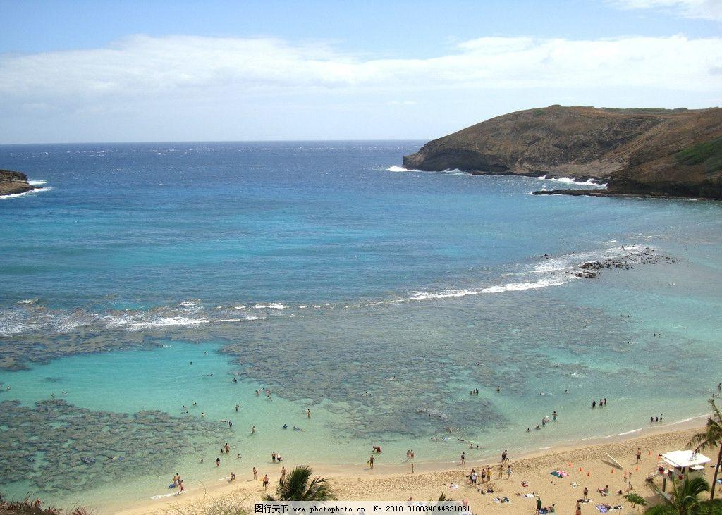 美国风光 美国摄影 蓝天 风景 景色 建筑物 海浪 大海 沙滩