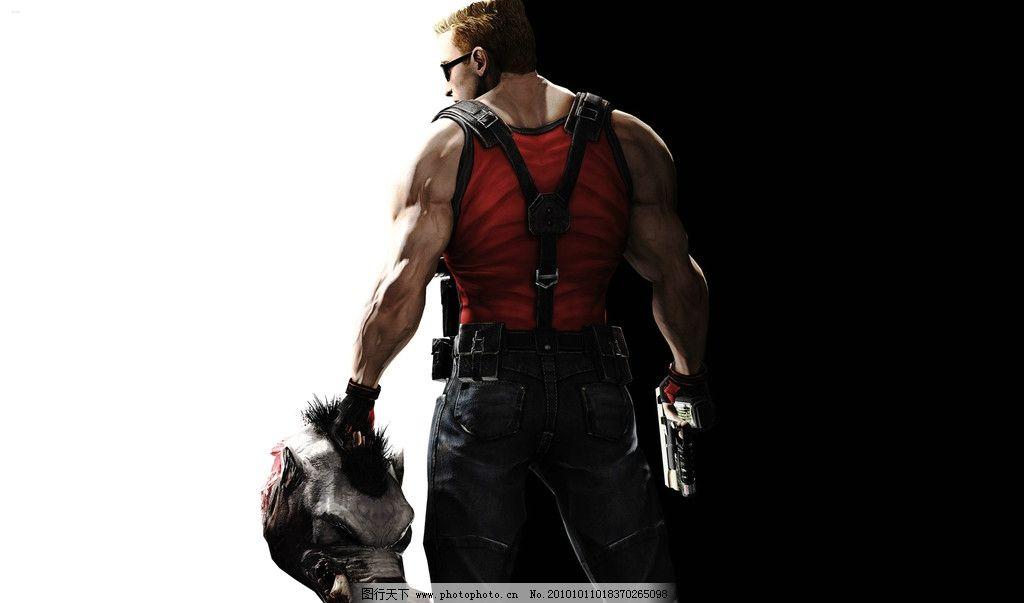 动漫人物 游戏壁纸 男人 男人背影 红背心 肌肉男 动漫壁纸 动漫动画
