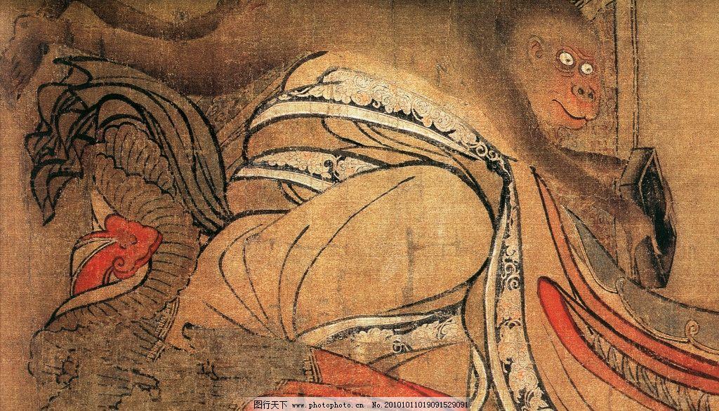 国画人物 国画艺术 中国风 文化画 中国画 水墨画 猴子 绘画书法