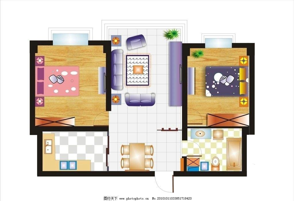 家居平面图图片