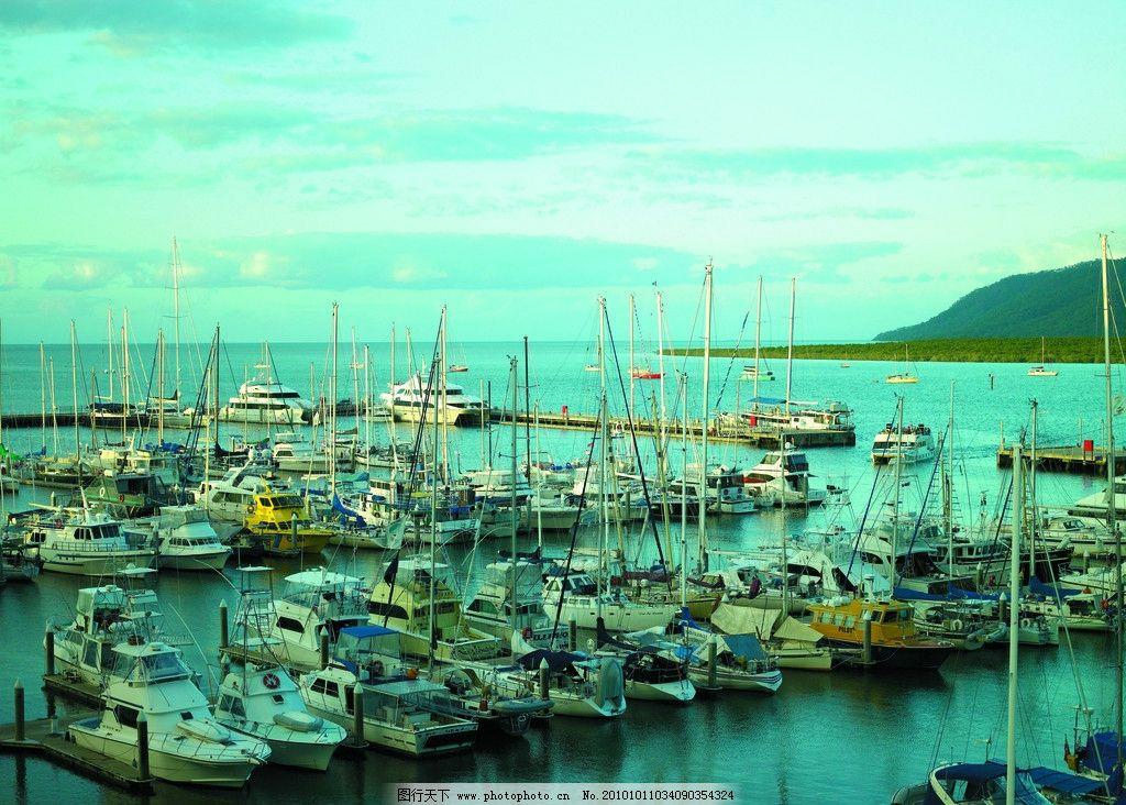 游艇 船 海景 海岛 大海 蓝天 悉尼东南亚 风景拍摄 自然景观 渔船