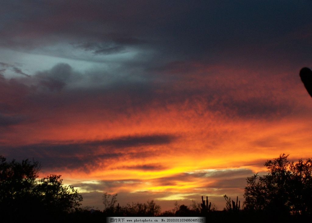 夕阳天空 晚霞 云彩 云朵 美丽风光 美丽风景 风光图片 夕阳晚霞 自然