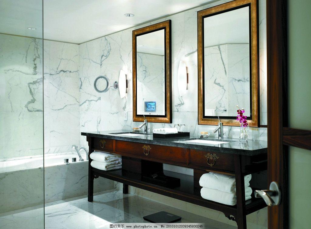 洗漱台 台盆 镜子 爵士白大理石 酒店设计 五星级酒店