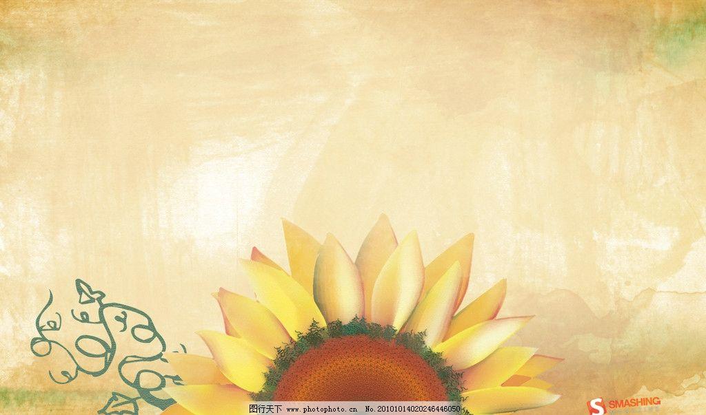 手绘太阳花壁纸图片