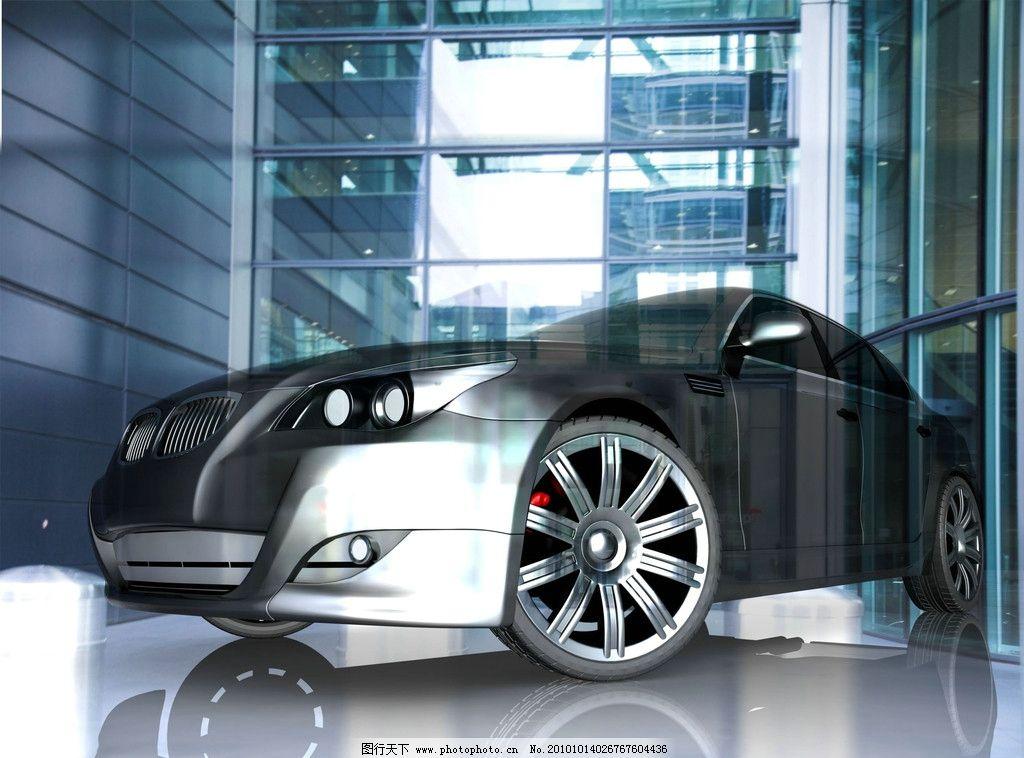 汽车 玻璃房 光和影 交通工具 现代科技 设计 300dpi jpg