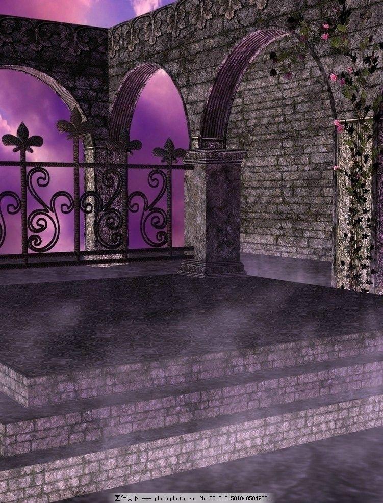 紫色温馨浪漫背景 影楼背景