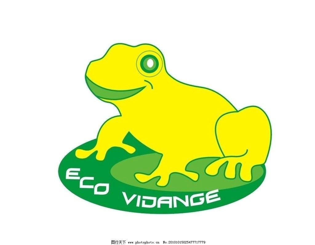 卡通 可爱 黄绿色 小青蛙 青蛙 荷叶 原生态 益虫 保护动物 其他生物