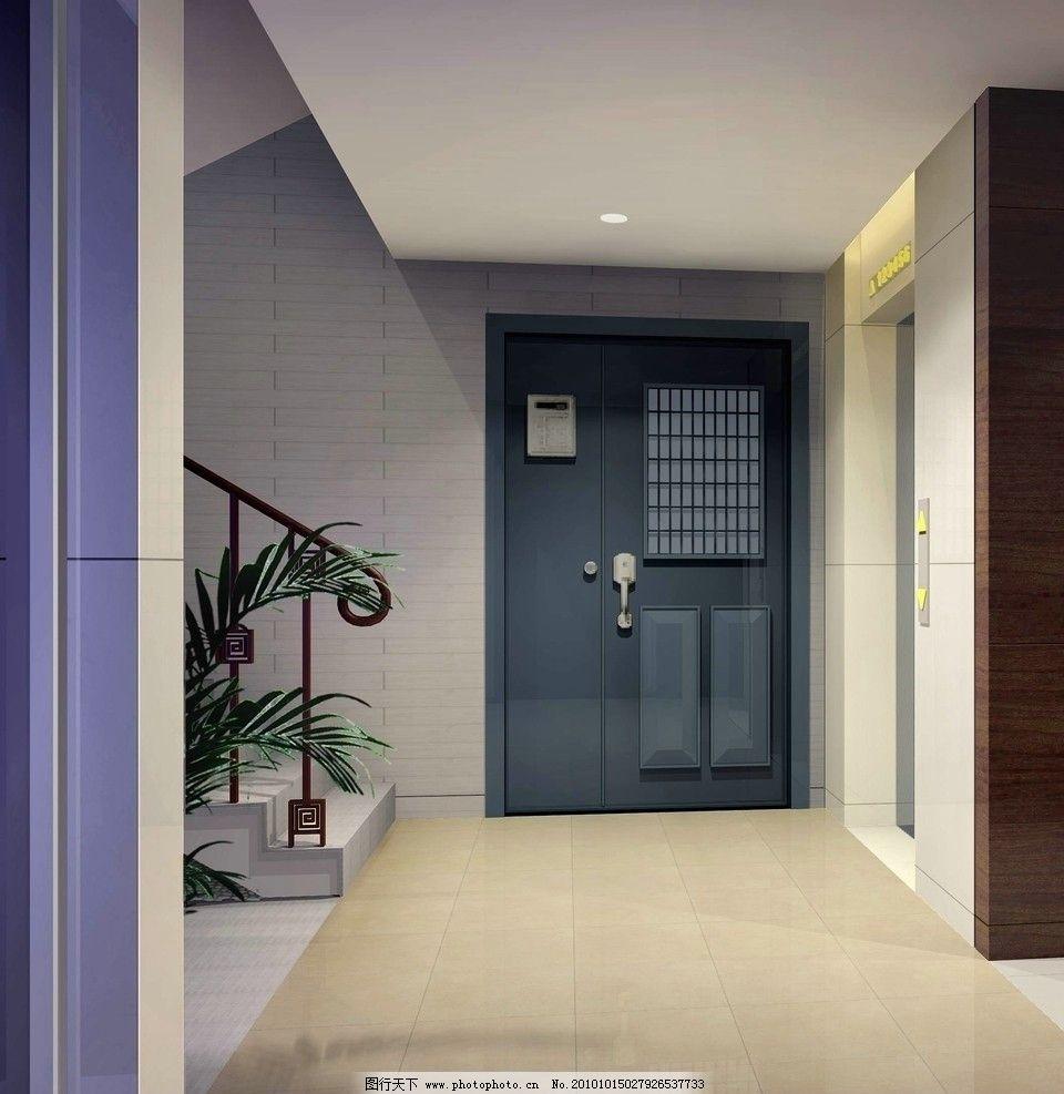 走廊效果圖 過道效果圖 樓梯口 家居設計 室內裝飾 別墅設計 室內效果