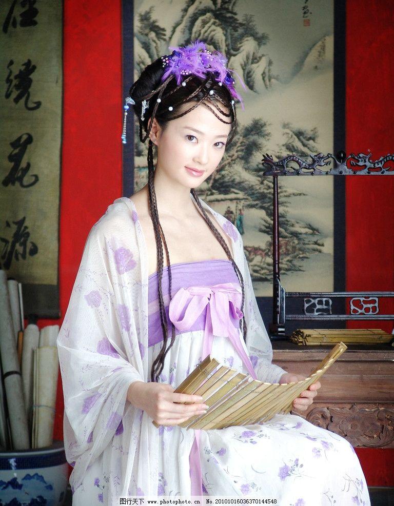 古典美女 古典 古装 美女 书本 看书 少女 女孩 人物摄影 人物图库