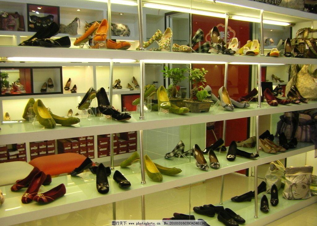 鞋店 鞋店铺 鞋 女鞋 时尚 店面 陈列 销售 商场 装修 柜台 室内摄影