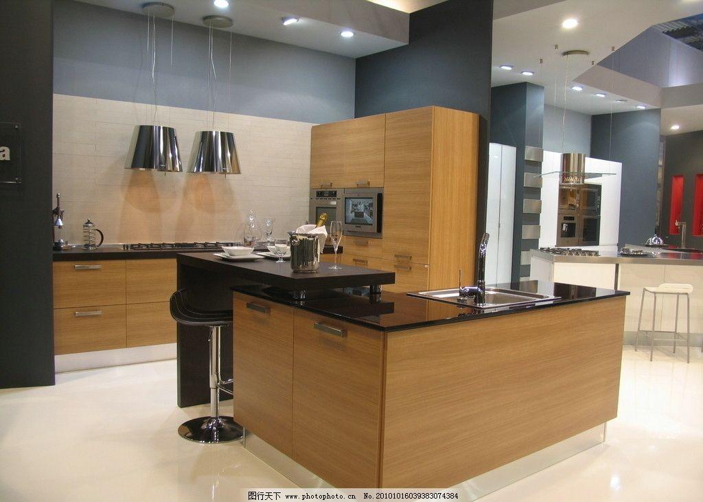 厨柜 高清 欧式 厨房 开放式厨房 现代家居 家居生活 生活百科