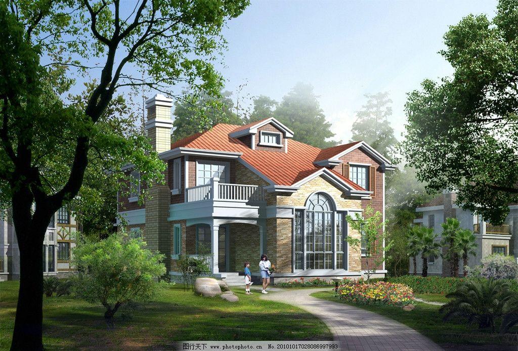室外        素材 鸟瞰 沿海群体别墅鸟瞰图 沿街商住楼之透视图 室外