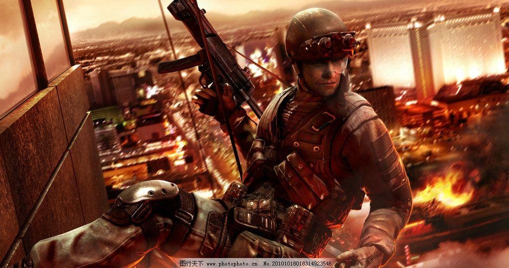 军事人物 枪 战场 游戏 人物 刀 动漫 动漫动画 动漫人物 战争 军人