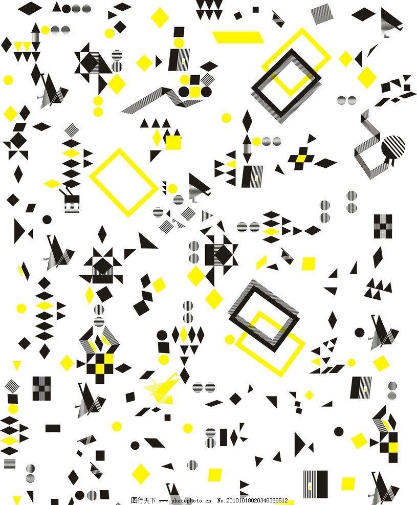 满身印花纹 几何图 匹布印 方框 花纹花边 底纹边框 矢量 cdr