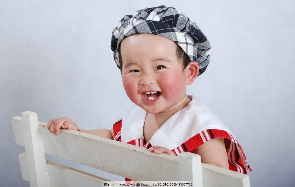 可爱宝宝图片,男宝宝 帽子 领带 椅子 周岁宝宝 儿童