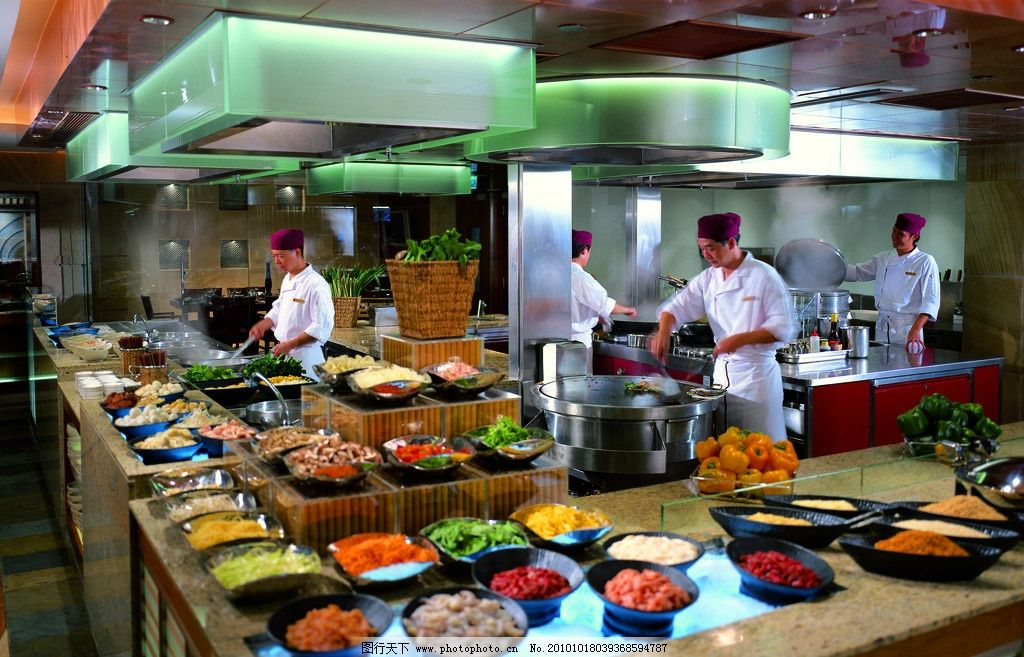 自助餐 餐厅 西餐厅 酒店设计 菜肴 炒菜 五星级酒店 香格里拉酒店