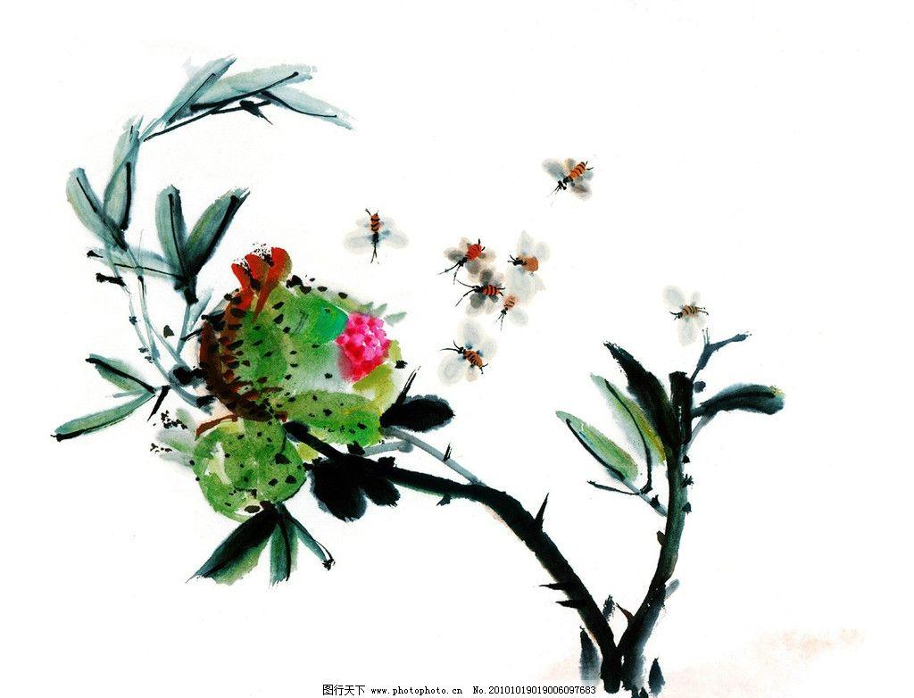 水墨花鸟 花 鸟 树 水墨画 山水画 绘画书法 文化艺术 设计 72dpi jpg