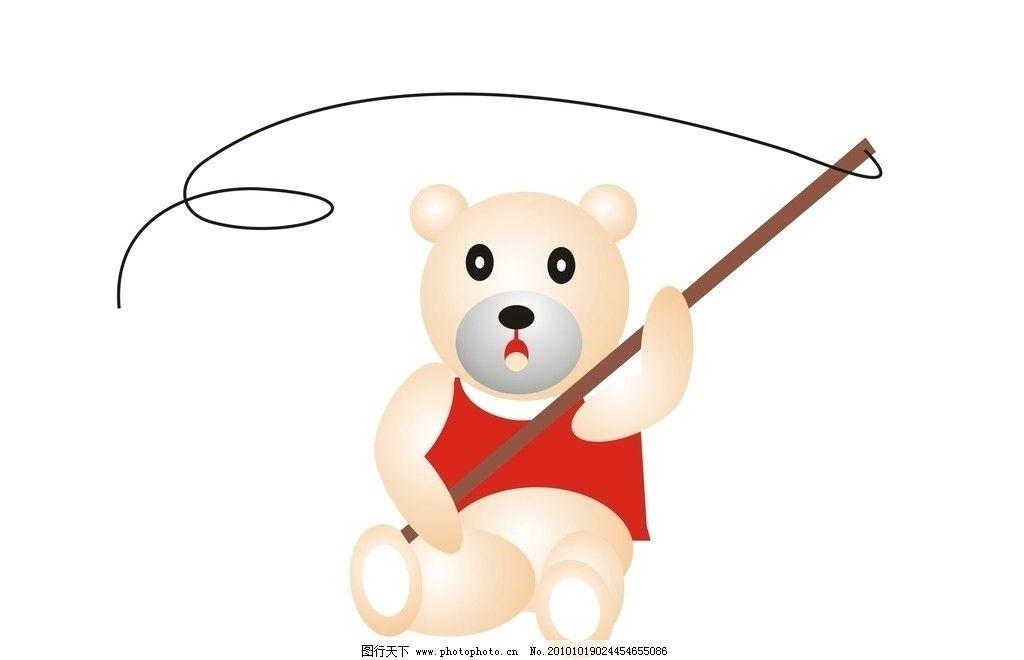 小熊钓鱼图片_野生动物