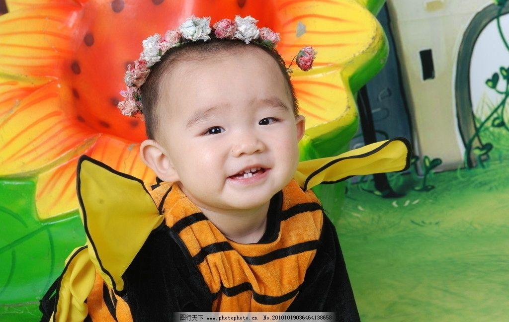 1岁男孩写真图片,儿童 幼儿 孩子 可爱 天真 淘气-图