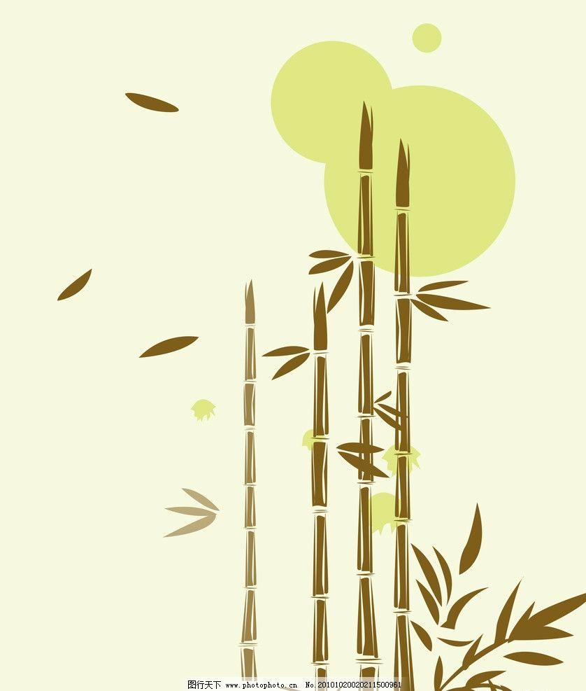 移门 竹子 竹叶 叶子 手绘 背景底纹 底纹边框 设计 80dpi jpg