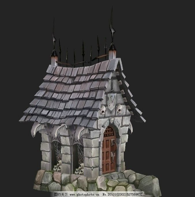 纯手绘房屋图片