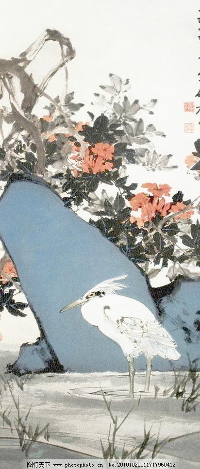 青石白鹭图片_山水风景画_装饰素材_图行天下图库