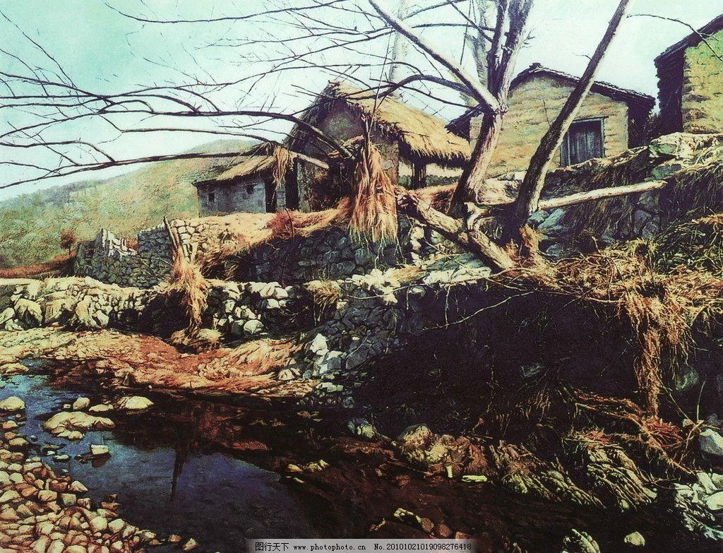 大师作品 当代艺术家作品 艺术家 景色 西方油画 乡村油画 树 树木 人