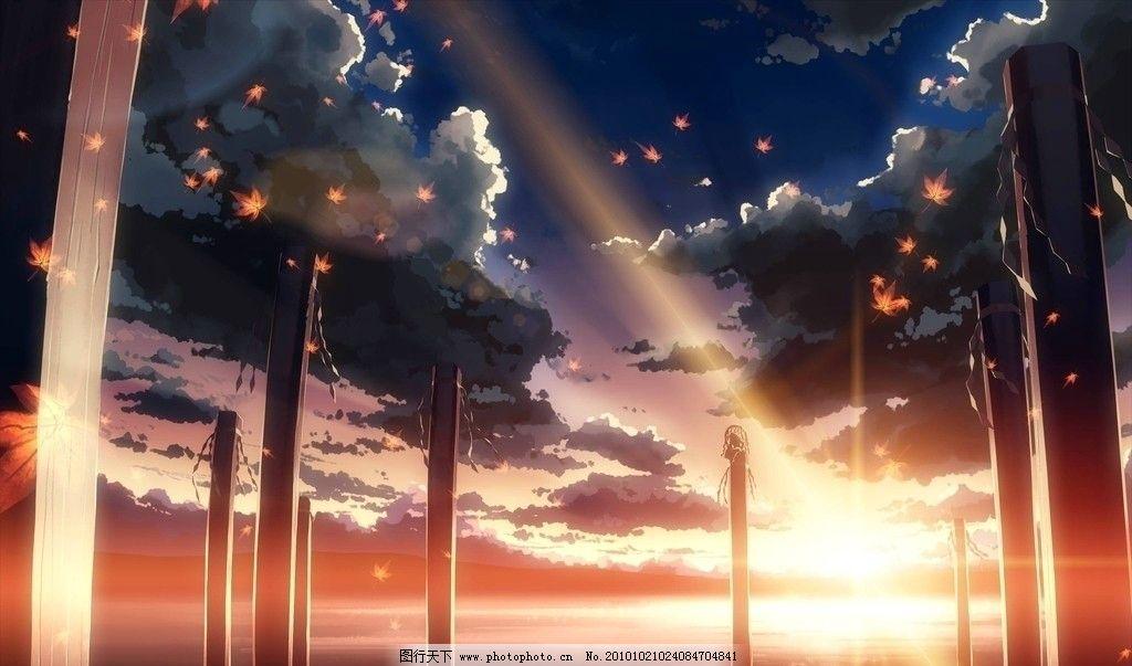 夕阳 太阳 树云 风景 星星 夜晚 傍晚 天空