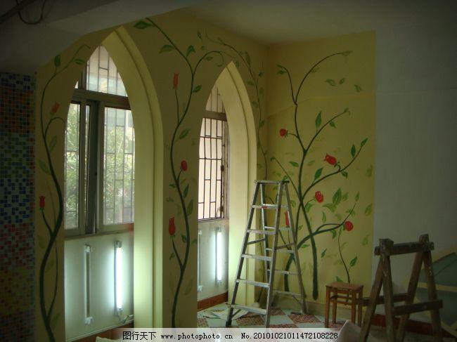 金夫人手绘墙