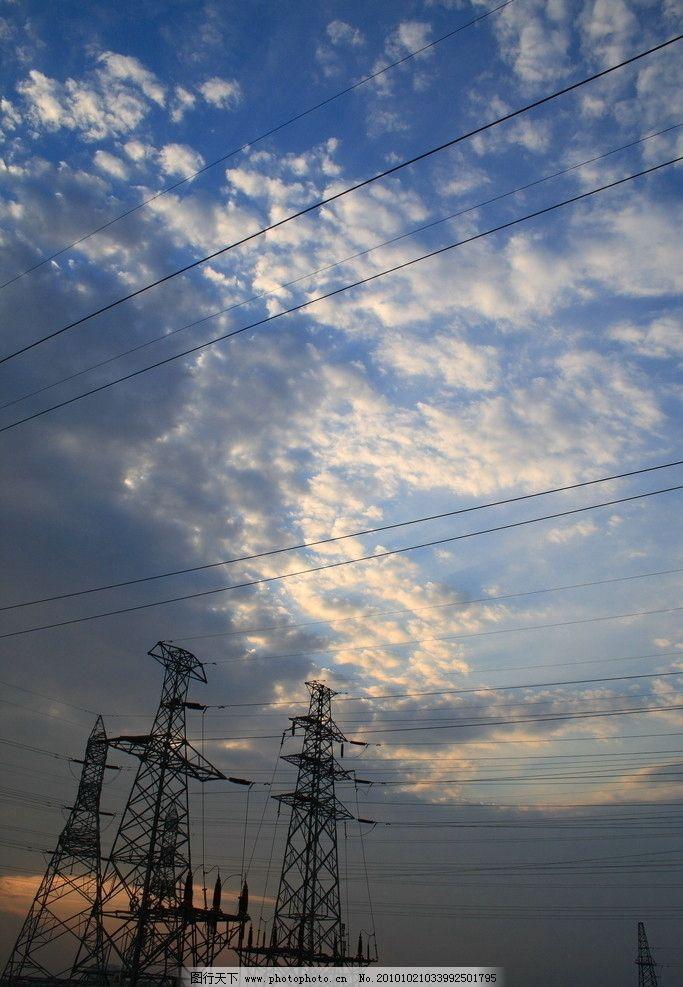 大港油田 盐碱地 夕阳 铁塔 高压线 天空 摄影作品 国内旅游 旅游摄影
