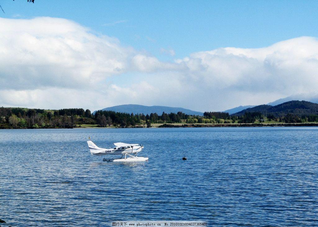 小镇梯安瑙图片,风景 旅游 新西兰 山岭 山林 海景-图