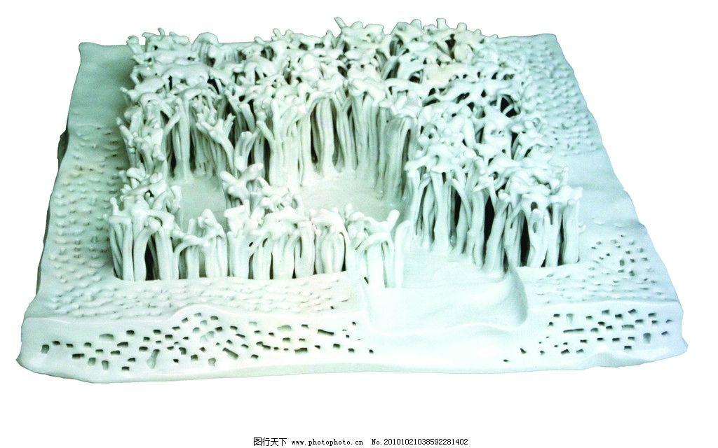 树林 公园 人群 花纹 瓷器 陶器 传统文化 文化艺术 摄影 300dpi jpg
