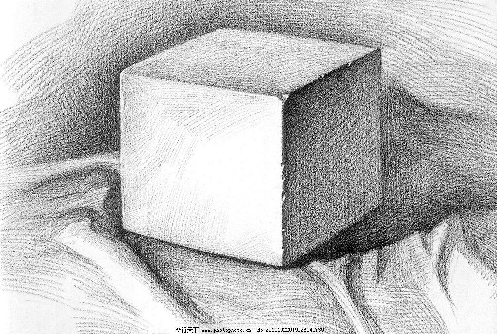 素描石膏几何体,竖着的圆锥和横着的圆柱怎么画图片