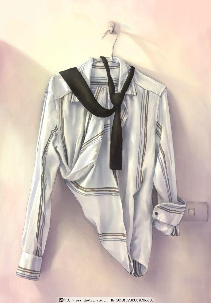 手绘衬衫 原创设计 psd手绘图