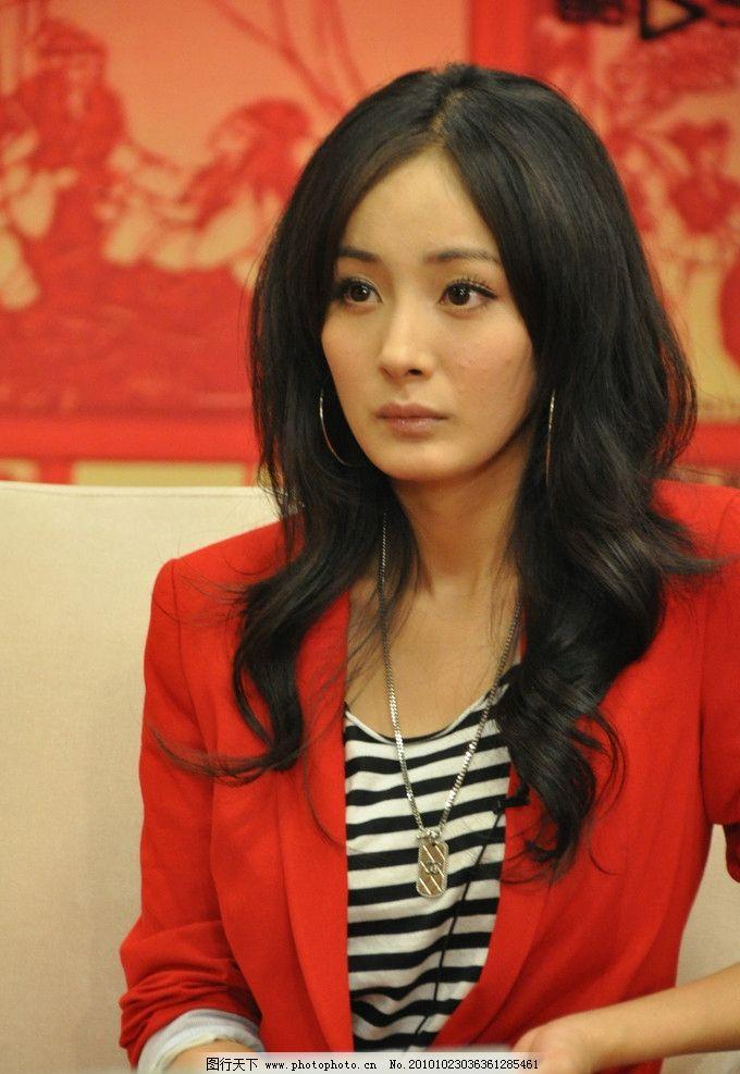 杨幂 狐狸 甜美 可爱 非主流 美女 女明星 小女生 明眸善睐 红衣 造型