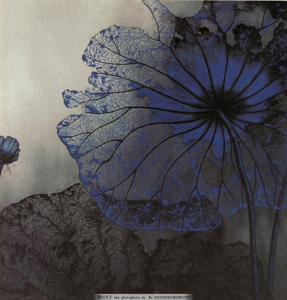 筛月 工笔画 线描 国画 中国画 植物 树木 大师作品 风景画 工笔画