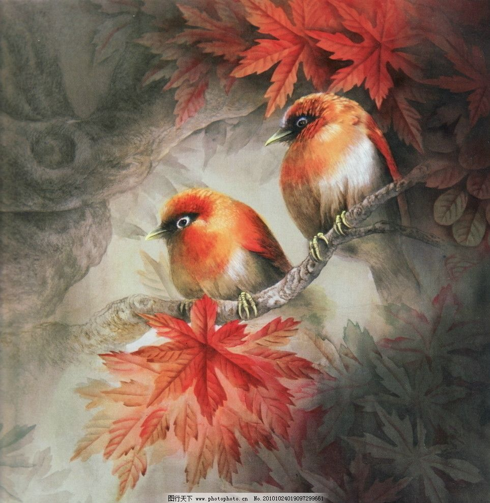 线描 国画 中国画 植物 树木 大师作品 风景画 工笔画走兽 动物 禽兽