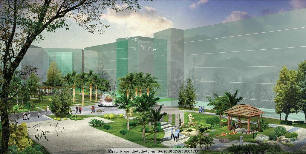 某小区绿化 公益设施 地面规划设计
