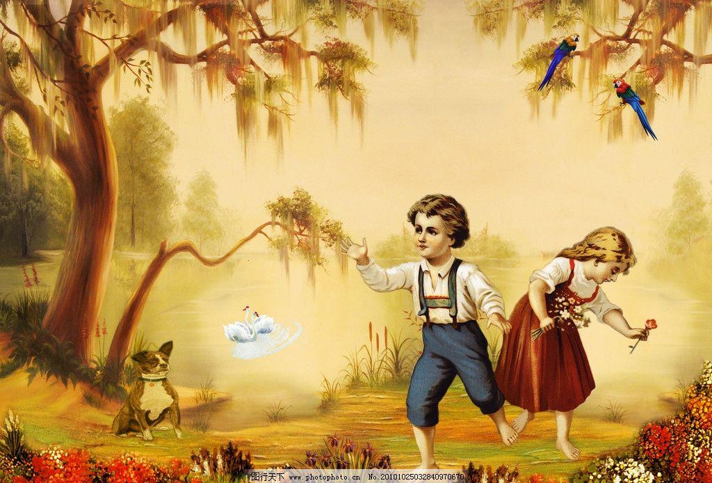 山水油画 油画 油画山水 风景画 风景油画 油画风景 油画人物 儿童